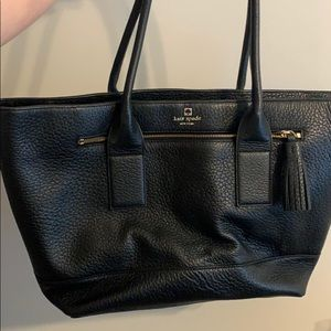 Kate Spade Large Black Leather Tote